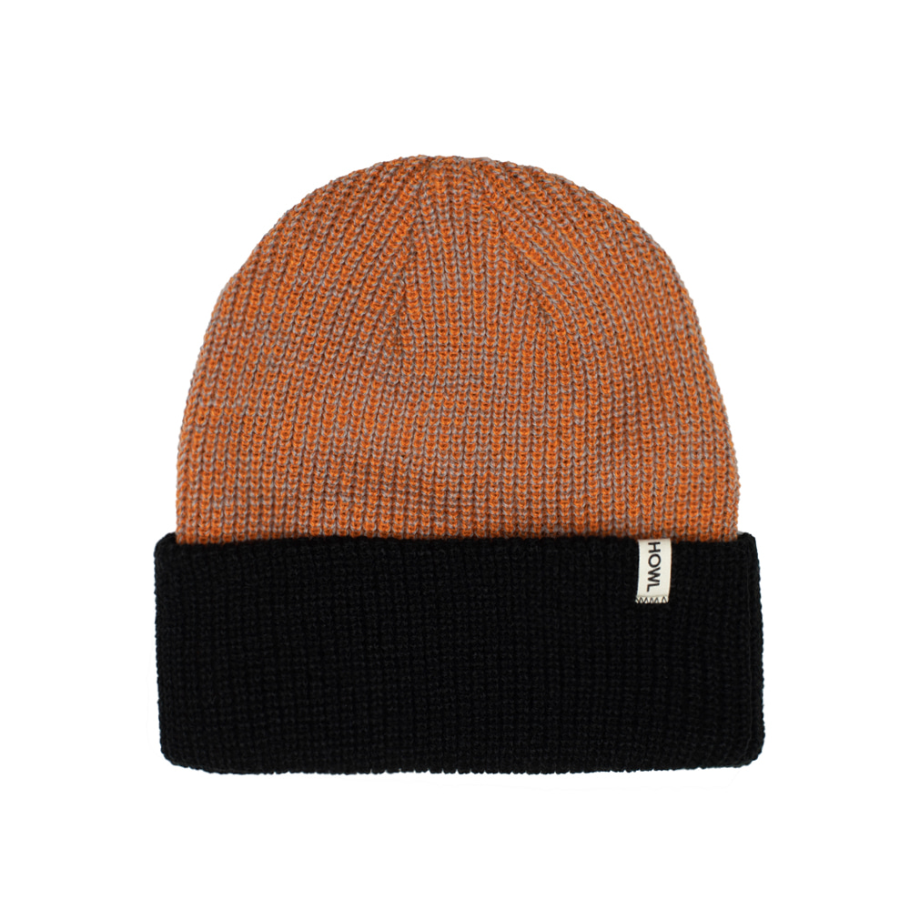 HOWL SUPPLY  SLASH BEANIE HEATHER ORANGE