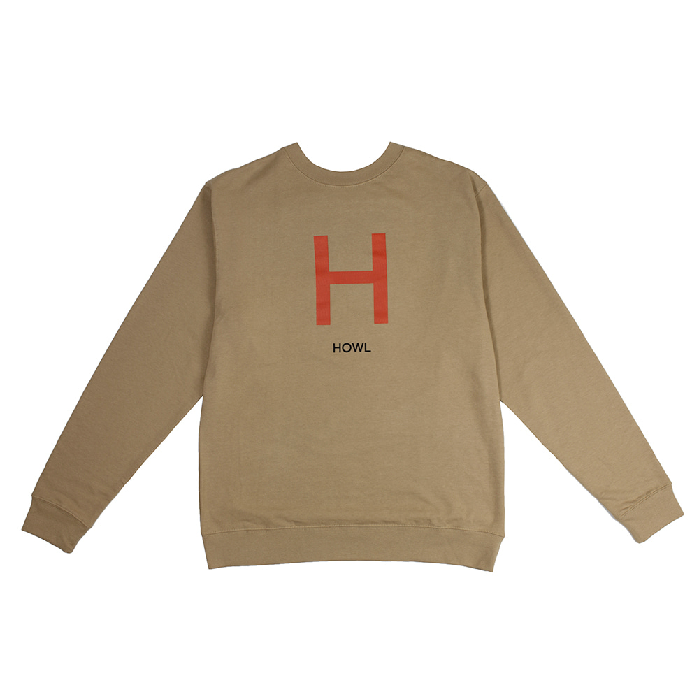 HOWL SUPPLY  H CREW TAN