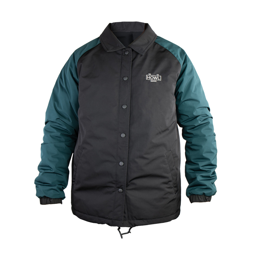 HOWL SUPPLY  PREMIUM COACHES JACKET BLACK