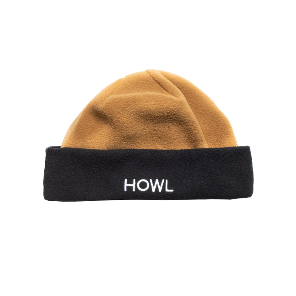 HOWL SUPPLY  FLEECE BEANIE BROWN