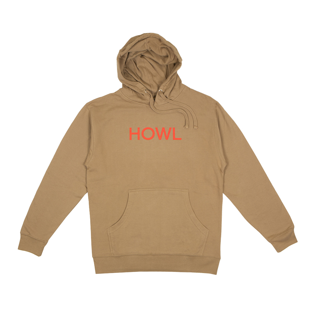 HOWL SUPPLY  LOGO HOODY TAN