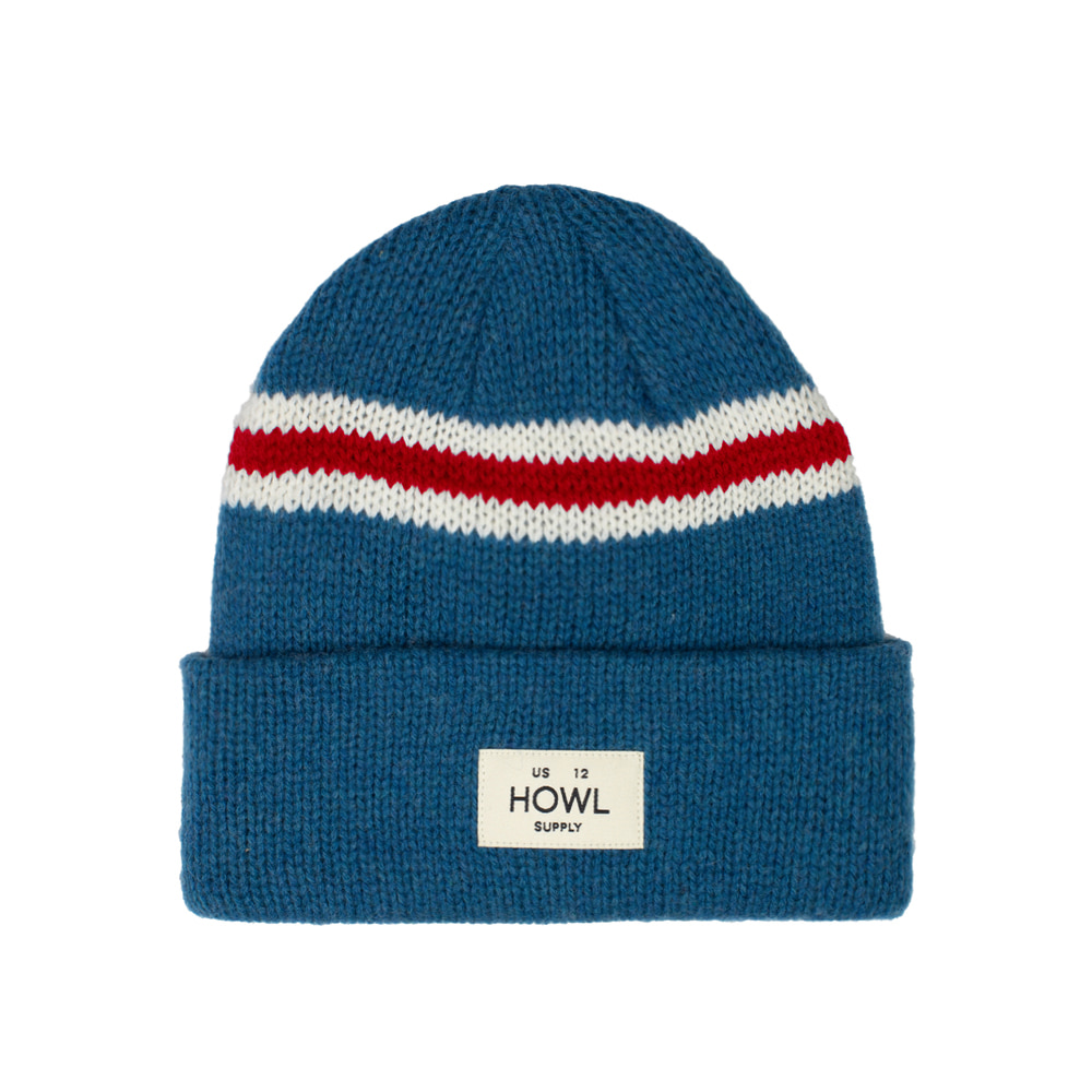 HOWL SUPPLY  STRIPE BEANIE BABY BLUE