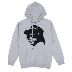 ASHBURY EAZY E PULLOVER HOOD HEATHER GREY