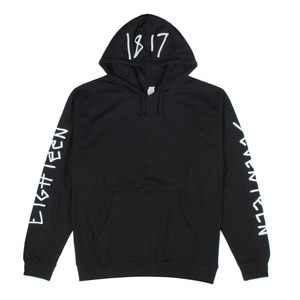 1817 CHICKEN SCRATCH PULLOVER HOODIE BLACK