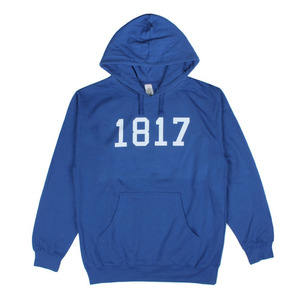 1817 DROPOUT PULLOVER HOODIE BLUE