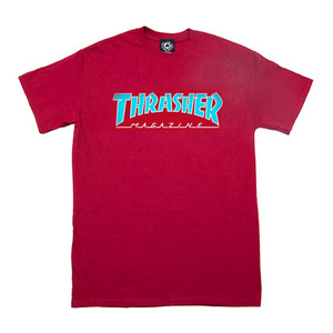 THRASHER OUTLINED TEE - CARDINAL