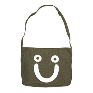 POLAR HAPPY SAD TOTE BAG - OLIVE