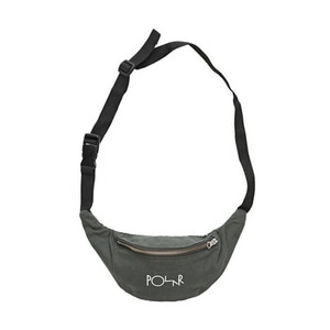 POLAR SCRIPT LOGO HIP BAG - GREY GREEN