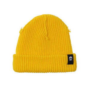 GNARLY INSIDE OUT BEANIE YELLOW