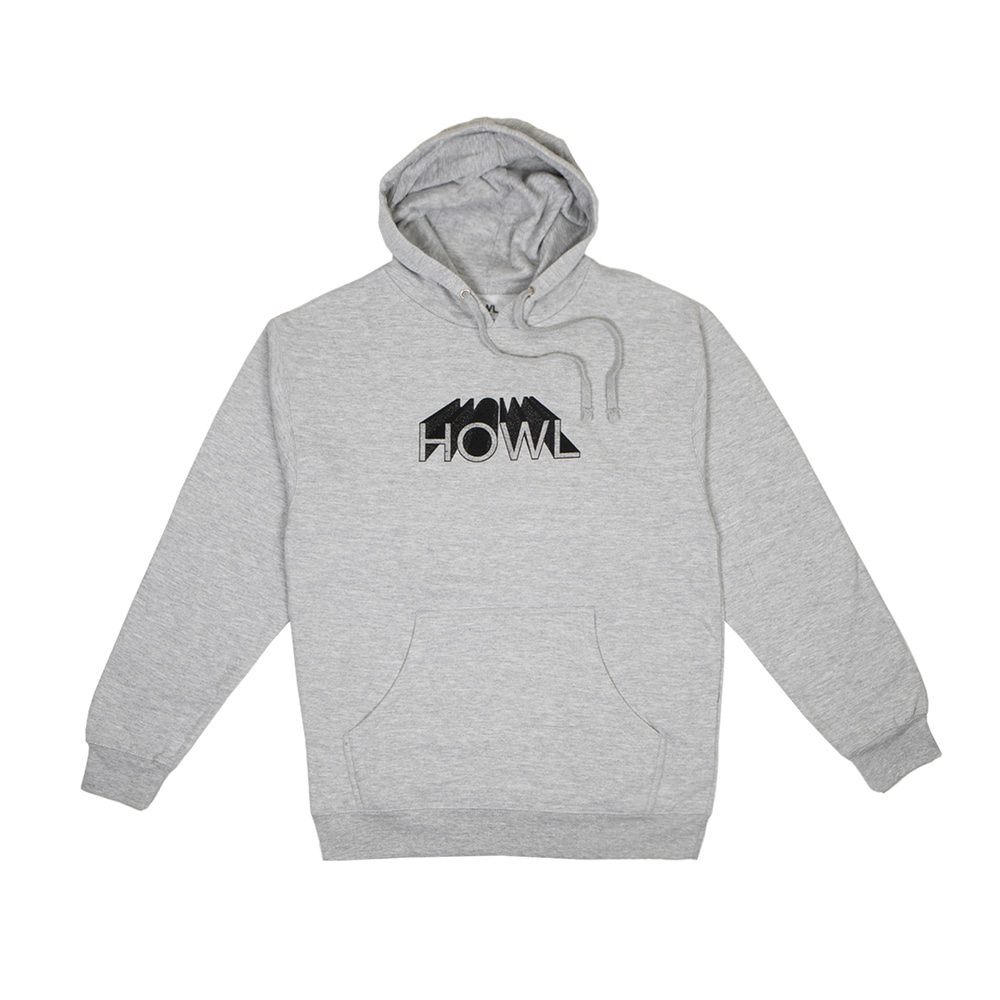 HOWL SUPPLY  3D HOODY GREY