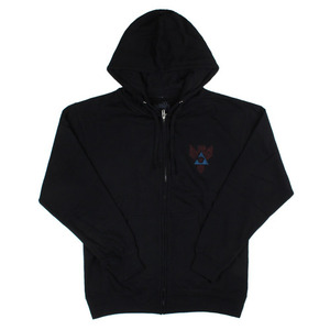 ASHBURY LIGHTNING ZIPUP HOOD BLACK