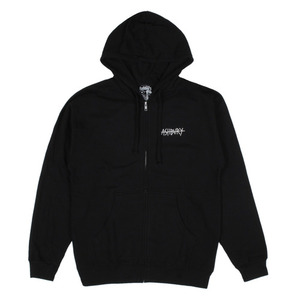 ASHBURY STRIKEOUT ZIPUP HOOD BLACK