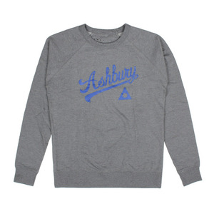 ASHBURY SCRIPT CREWNECK HEATHER GREY